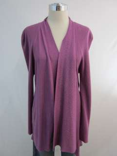 New Eileen Fisher Rosby Purple Cardigan Sweater Large