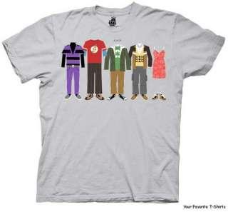 Licensed Big Bang Theory Group Clothing Adult Shirt S 2XL