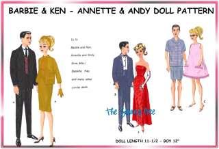 Barbie & Ken Doll wardrobe Pattern 11 12 vintage 2519