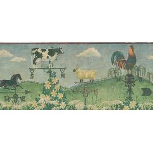 Country Scene Wallpaper Border in Border Resource: Home