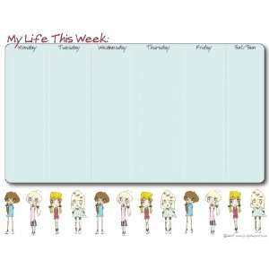 WEEKLY PLANNER NOTE PAD (GIRLS) Office Products