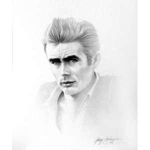James Dean 1 Charcoal Portrait