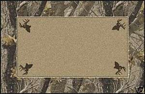 REALTREE HARDWOODS W/ DEER HEADS CAMO RUG 2x3