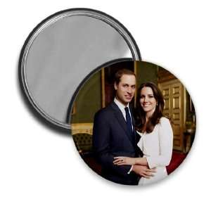 Prince William Kate Middleton Royal Engagement 2.25 inch Glass Pocket
