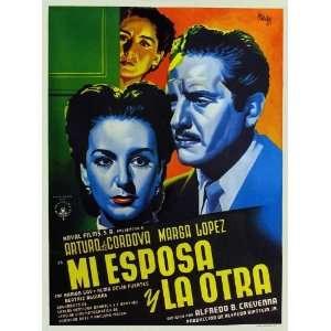 Mi esposa y la otra (1952) 27 x 40 Movie Poster Mexican