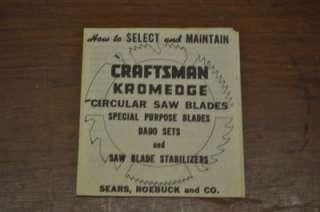 Craftsman Kromedge Circular Saw Blade Set  9 3248  D:6/H:1/2
