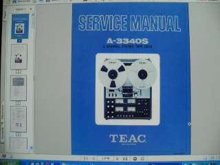 TEAC A 3340S 3340 S Reel To Reel SERVICE MANUAL
