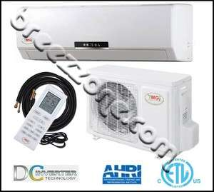 DUCTLESS MINI SPLIT HEAT PUMP 16 SEER 36000 BTU 3 TON,25FT INST. KIT