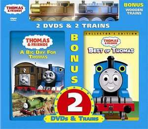 2007, 2 Disc Set, with 2 Bonus Wooden Toy Trains 884487102385