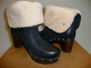 Ugg Lynnea wood clog boots black New in Box