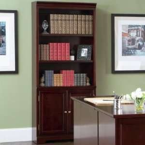 Lawrenceville Open Bookcase with Storage Base Cabinet by