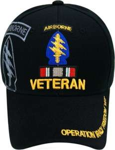 SPECIAL FORCES AIRBORNE OPERATION IRAQI IRAQ FREEDOM VET VETERAN HAT