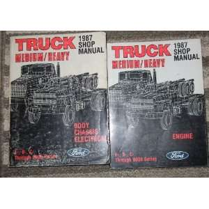 1987 Ford Medium Duty Truck Service Shop Manual SET (body/chassis