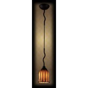 Elk Lighting 1608/1 Phoenix Amber Glass 1 Light Wrought