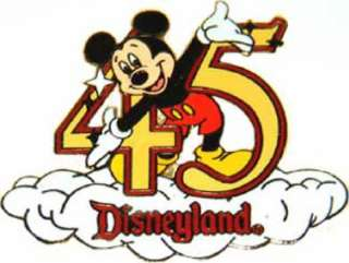 DISNEY DLR 45TH ANNIVERSARY SET MICKEY MOUSE CLOUD PIN