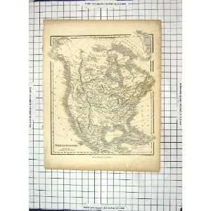 Antique Map North America Mexico Cuba Hudson Bay Greenland