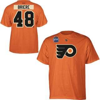 Flyers Daniel Briere Orange Winter Classic 2012 Jersey T Shirt