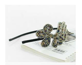 New Women Fashion Trendy Bling Angel Wing Headband Hair Band