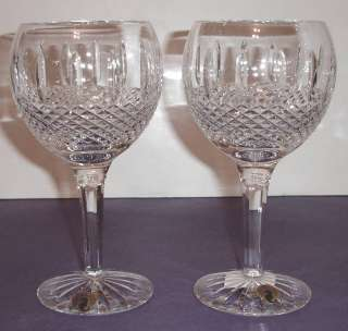 Waterford Glenmede Balloon Wine Juice Glasses Set/2 New Irish
