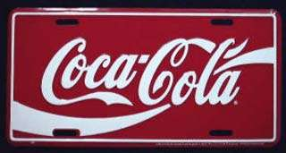 CLASSIC COCA COLA COKE METAL LICENSE AUTO PLATE #508