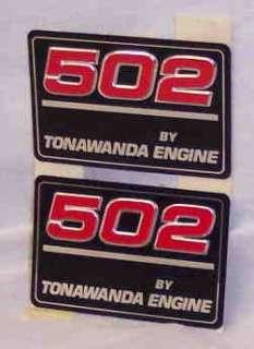 Chevy / GMC 502 Tonawanda Engine Emblem NOS Genuine GM