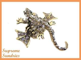 Stunning 3D Charms Chameleon Lizard Hair Clip Claw 544