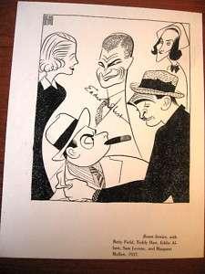 Al Hirschfeld Print Room Service /Signed Eddie Albert