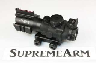Aim Sports 4x32 Fiber Optic Scope /w RGB Illuminated & LIFETIME