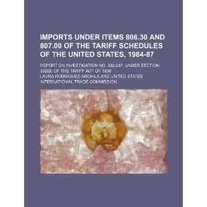 the Tariff Act of 1930 (9781236167910) Laura Rodriguez Archila Books