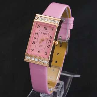 Rectangle Dimond Appearance Fashion Lady Womens Wrist Watch Free