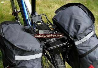 65L Cycling Bicycle Bag Bike rear seat bag pannier with Rain cover
