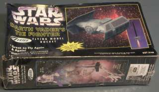 ESTES STAR WARS DARTH VADERS TIE FIGHTER FLYING MODEL ROCKET + NEW