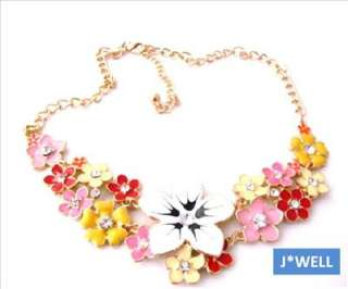 Premier Jewelry Colorful Bloom Crystal Pistil Necklace *Gift