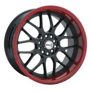 17x7 XXR 006 (Black w/ Red Lip) Wheels/Rims 5x100/114.3
