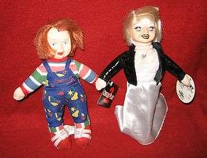 CHUCKY & TIFFANY 7 Plush Childs Play 2 & Bride of Chucky Good Guys