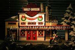 Snow Village Dept 56 HARLEY DAVIDSON MANUFACTURING NeW