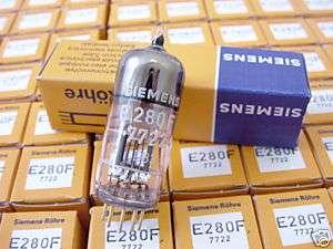 2x Siemens E280F 7722 Tubes NOS NIB Gold Pins 5842 d3a