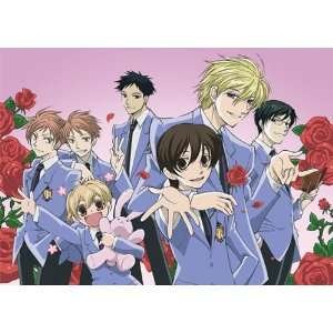Ouran High School Host Club Group Welcome Wall Scroll