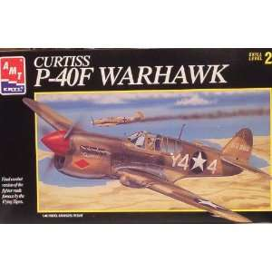 Curtiss P 40F Warhawk Kit by AMT Scale 1:48: Toys & Games