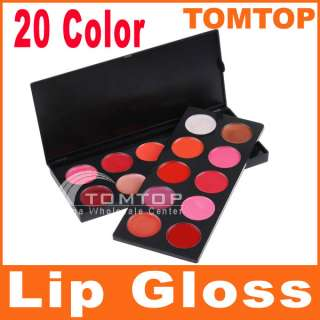 Professional 20 Color Cosmetic Lip Lips Gloss Lipsticks Makeup Palette