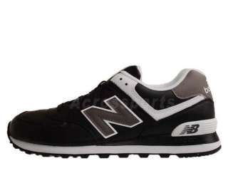New Balance NB574 BW D Black Leather White 2011 Mens New Casual Shoes
