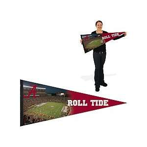Alabama Crimson Tide Football Pennant 17x40 Stadium