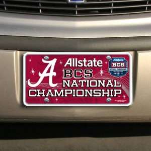 Alabama Crimson Tide 2012 BCS National Championship Game Metal License