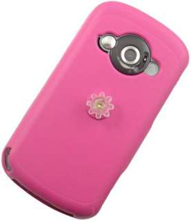 RUBBERIZED HOT PINK COVER SKIN CASE FOR HTC 8525 TYTN