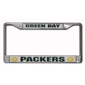 Green Bay Packers Chrome Metal License Plate Frame $25 Val