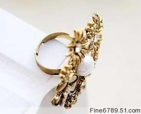 DONT MISS LOTS 36Pcs Fashion Flower Beads Metal Rings