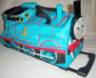 Tank Engine Train Rolling Luggage Travel Bag ~ Vacation Sleepover Camp