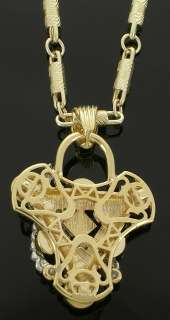 Mens Fake Gold Plated Iced Out Scorpion Hip Hop Bling Pendant Charm