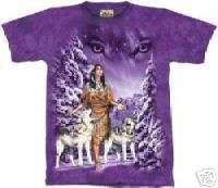 EYES Indian Maiden Wolf T Shirt The Mountain XXXL 3X