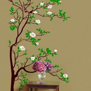 Vinyl Wall Decal Sticker Tree w/ Blossom Leaves 6ftTall